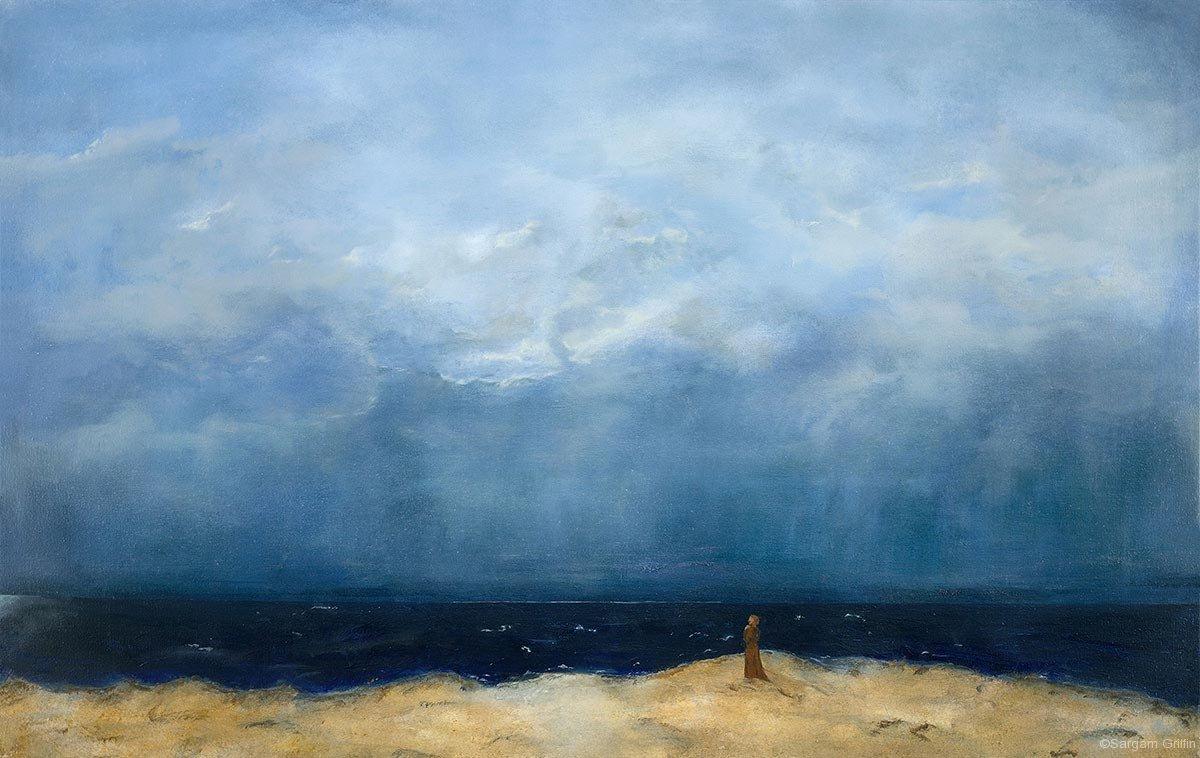 Contemplation, Contemporary Art, Sargam Griffin