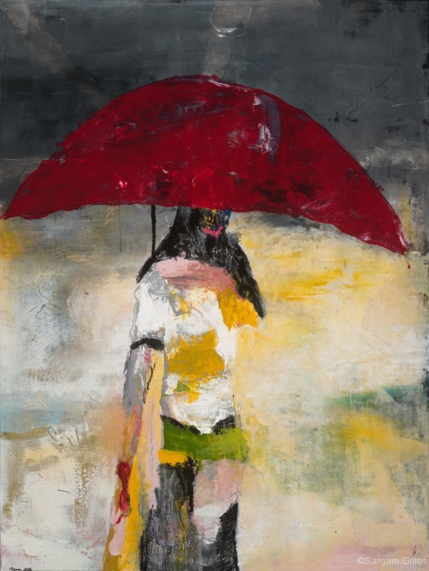 Umbrella Girl, Sargam Griffin Contemporary ArtWork
