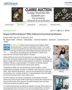 Sargam Griffin ArtDoors Offer Collectors Functional Installations
