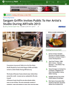 Sargam Griffin Invites Public To Her Artist's Studio During ARTrails 2013