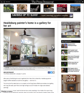 Healdsburg painter's home is a gallery for her art, Press Democrat